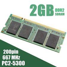 2GB  PC2-5300 DDR2 SDRAM 667Mhz 200Pin Memory RAM Laptop Notebook SODIMM Non-ECC
