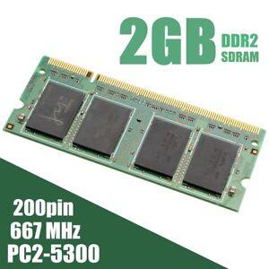 2GB  PC2-5300 DDR2 SDRAM 667Mhz 200Pin Memory RAM Laptop Notebook SODIMM