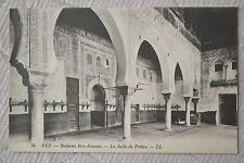 """CPA """" FEZ - Médersa Bou-Anania - La Salle de Prière"""