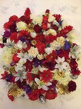 25 cabezas de flores de Navidad florece Artificial Corona Craft Decoración falso Joblot