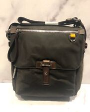 TUMI Brown Nylon Messenger Crossbody Bag