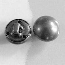 15pcs Brass Metal Plate Half Ball Clothes Dome Self Shank Sew On Buttons Hot