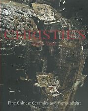 CHRISTIE'S CHINESE GLASS CERAMICS JADES QING TANG POTTERY BRONZES Catalog 2001