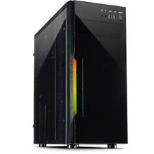 Inter-Tech B42 RGB Midi Tower Gehäuse Schwarz 3x USB