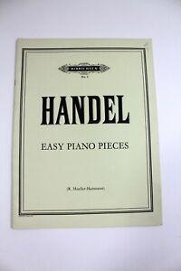 Vintage Piano Sheet Music Hinrichsen No. 3 Handel Easy Piano Pieces Mueller