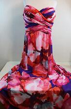 Lauren Ralph Lauren Multi Color Print Strapless Sheath Evening Dress Gown 16