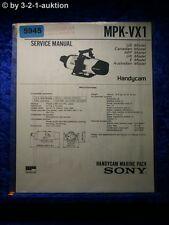 Sony Service Manual MPK VX1 Handycam Marine Pack (#5945)