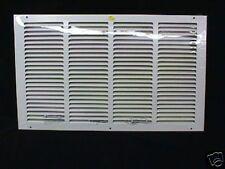 """Return Air Grille 20 X 12 White 1/3"""" Louver Flat Wall Return"""