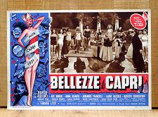 BELLEZZE A CAPRI fotobusta poster Alberto Sorrentino Ave Ninchi Miss 1951 E12