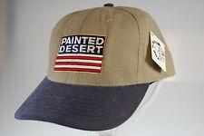 NEW Beige and blue billed Painted Desert golf hat w/ flip grip headband (B396)