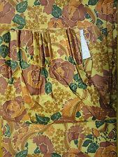 100% cotton curtains – Gold/Green/Orange curtains