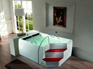 Traum Whirlpool Rockford 2 Badewanne 175x120 & Treppe Vollausstattung UVP*4.990€
