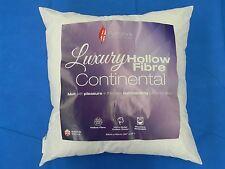 65cm x 65cm Square Euro Continental Hollowfibre Pillow Pair Luxury British Made