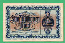 Germany Munchen 5.000.000 Mark Paper Money 1923 Circulated 030992