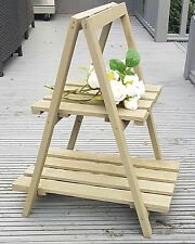 RUSTIC SHABBY CHIC LADDER SHELF UNIT DISPLAY STAND STORAGE RACK HOME GARDEN SHOP