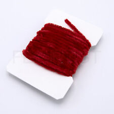 Hareline Carded Chenille Fly Tying Materials Assorted Colors Various Sizes CHF310 Fine Red