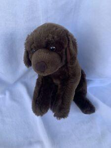 "2009 Animal Alley Toys R Us Chocolate Brown Lab Puppy Dog Plush  13"""