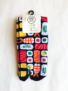 Sushi Tabi Socks 9-9.5 inch Unisex NWT