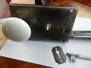 Early 1800's Door Rim Lock Complete  Security Latch (RL 17) Refurbished R. Lee
