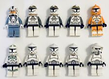 LEGO Star Wars Minifigures Clone Wars Lot of 10x Clone Troopers Army Builder #1
