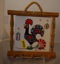 Vtg Bohemian Portugese Chicken Rooster Tile Wallhanging Portugal Souvenir Nuanca