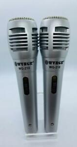 2X PRO WVNGR Dual Professional Dynamic Handheld Microphone WVNGR WG218 UK STOCK