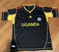 New & Rare Uganda National Team Cranes Adidas Soccer Jersey Youth M Climacool