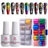 Nail Art Foil Glue Gel with Starry Sky Star Foil Stickers Set Metal Top Quality