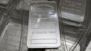 """SEALED"" 10oz Ounces Troy Fine Silver .999 NTR Metals Bar"