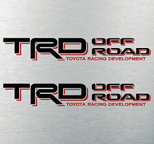 "TOYOTA TACOMA TRD OFF ROAD DECALS STICKERS (2) 18""X3"" DECALS BLACK & RED"