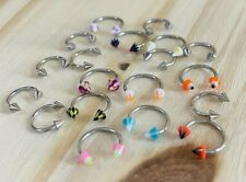 Of 20 - Perfect for Resale 18G Spiked Hoop/Horseshoe Body Jewelry - Lot