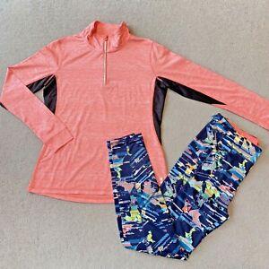 TU Orange Tracksuit Leggings Gym Wear Running Top Joggers Sweatshirt Women's 14