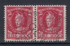 1948-54 MARCHE DA BOLLO PER PATENTI DI GUIDA COPPIA 2000 LIRE ANNULLATA