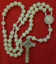 CATHOLIC ROSARY - Glow-in-the-Dark AND SAINT BENEDICT ON THE CROSS & CENTER PIEC