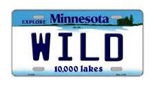 "Metal Vanity License Plate Tag Cover - Minnesota Wild - Hockey Team - 12"" x 6"""