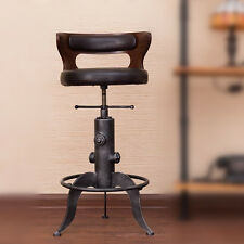 INDUSTRIAL RETRO RUSTIC VINTAGE METAL BAR STOOL KITCHEN COUNTER CHAIR BACKREST