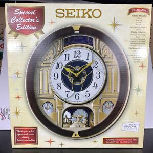Seiko Melodies In Motion Wall Clock - Swarovski Elements QXM541BR Special