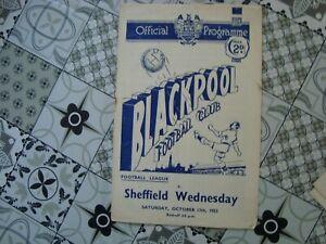 Blackpool v Sheffield Wednesday Oct 1953