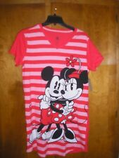 3XL Mickey Mouse & Minnie Red Striped Nightshirt Disney Store NWT