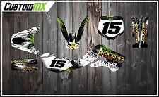 KX65 KX 65 00-15 KLX 110 02-09 & Pitbike Graphics Kit with custom numbers etc