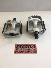 """QUALITY SILVER  9/16"""" ALLOY MTB BICYCLE PLATFORM PEDALS PAIR MOUNTAIN"""