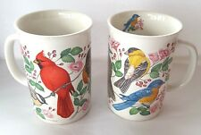 2X Nature's Beauties 1991 Potpourri Designs Coffee Tea Cup Birds 9oz