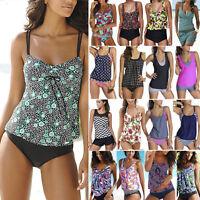 Womens Push Up Tankini Bikini Set Swimsuit Bathing Suit Swimwear Beachwear Plus