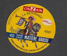 Ancienne   étiquette  Fromage France  MM190 La Renommée Cheval