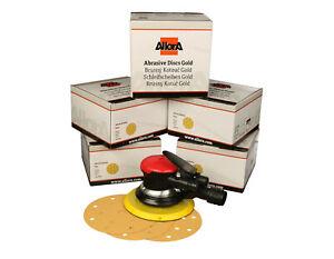 AllorA Druckluft Exzenterschleifer 150mm 4,5mm Hub + 500 Scheiben AllorA Gold