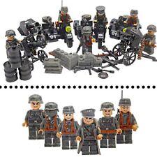 Lego Militaire Allemand Motorisé WW2 2e guerre 6 Bonhommes avec équipement