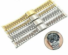Watch Band Strap Curved Hollow Straight End Solid Screw Links Jubilee Bracelet