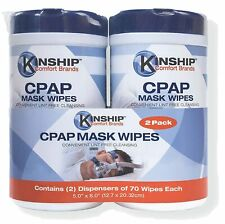 CPAP Mask Wipes 140 Count 2 Pack Lint Free Easy Opening Top No Chemical Residue