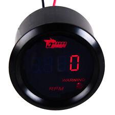 "2"" 52mm LCD Auto Car Digital Tachometer Tach Gauge Meter 0~9999RPM Red LED Black"