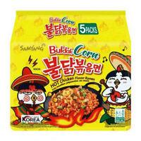 Samyang Hot Chicken Corn Flavor Ramen Korean Spicy Ramen (Pack of 5)